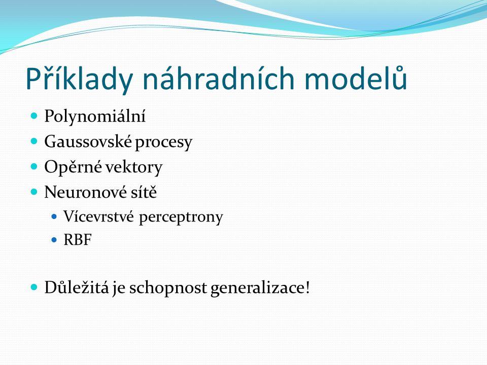 Příklady náhradních modelů
