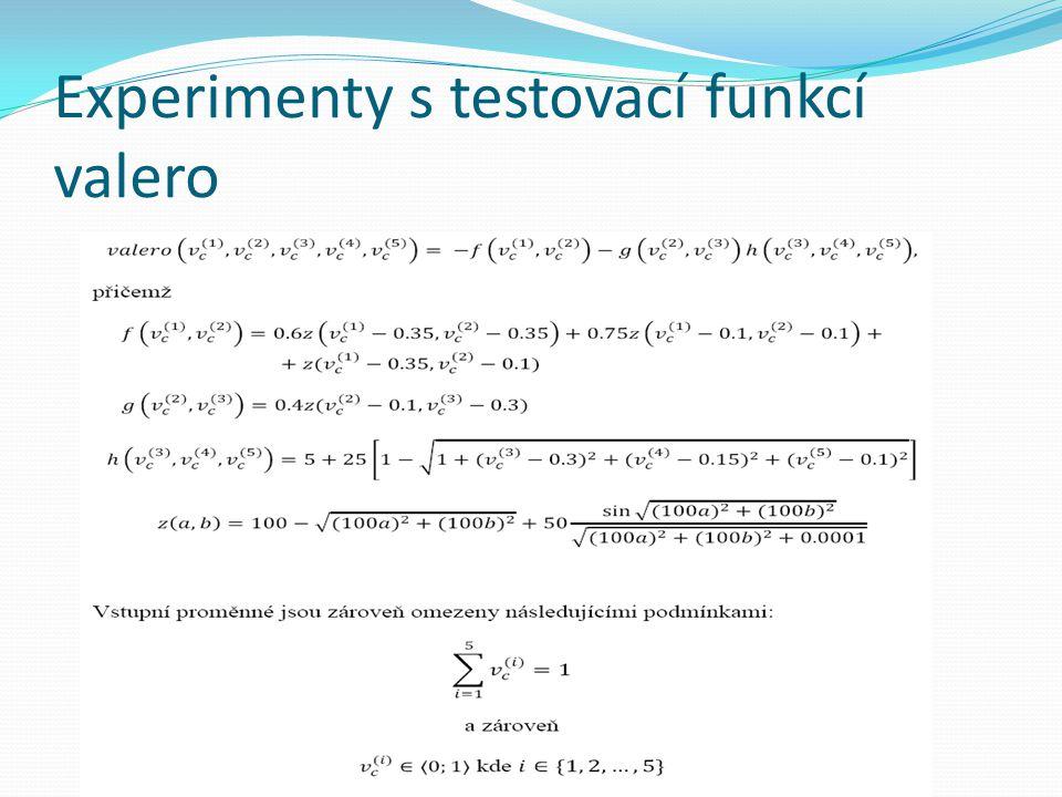 Experimenty s testovací funkcí valero