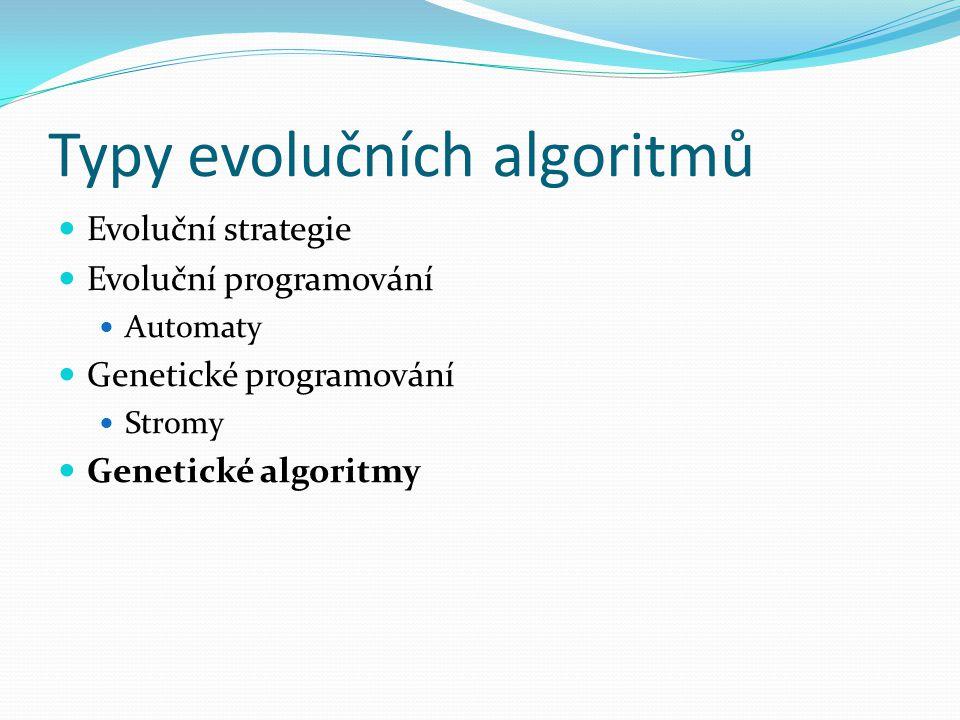 Typy evolučních algoritmů