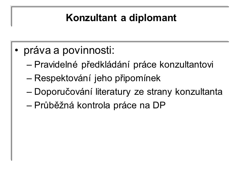 Konzultant a diplomant
