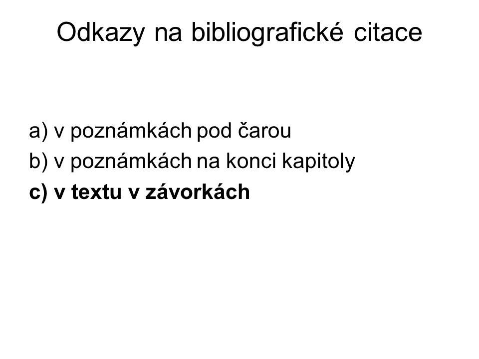 Odkazy na bibliografické citace