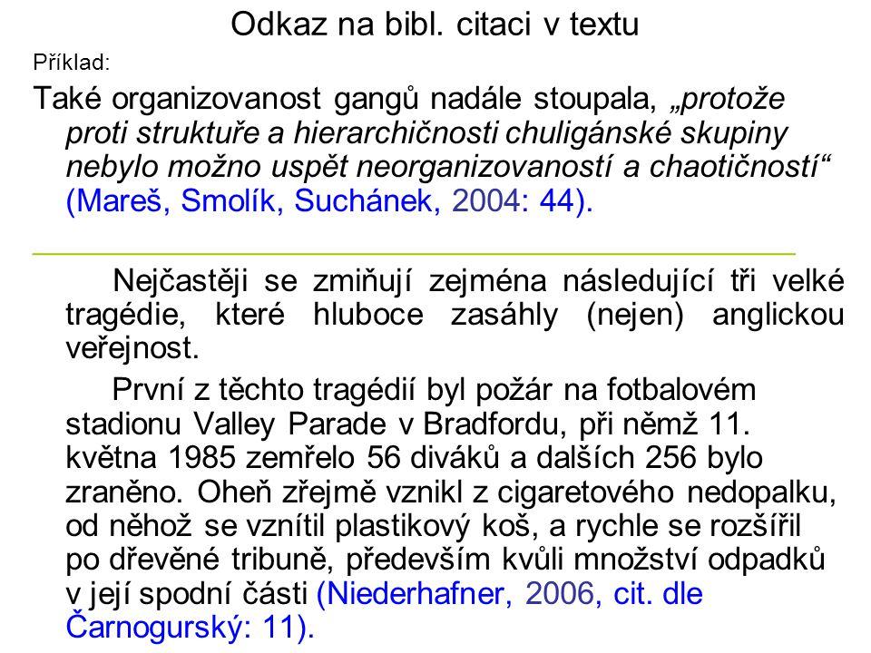Odkaz na bibl. citaci v textu