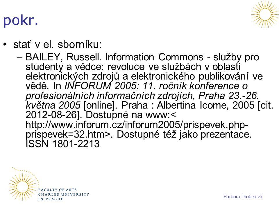 pokr. stať v el. sborníku: