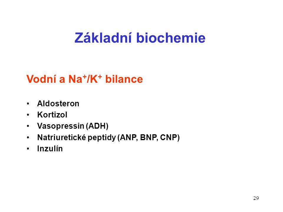 Základní biochemie Vodní a Na+/K+ bilance Aldosteron Kortizol