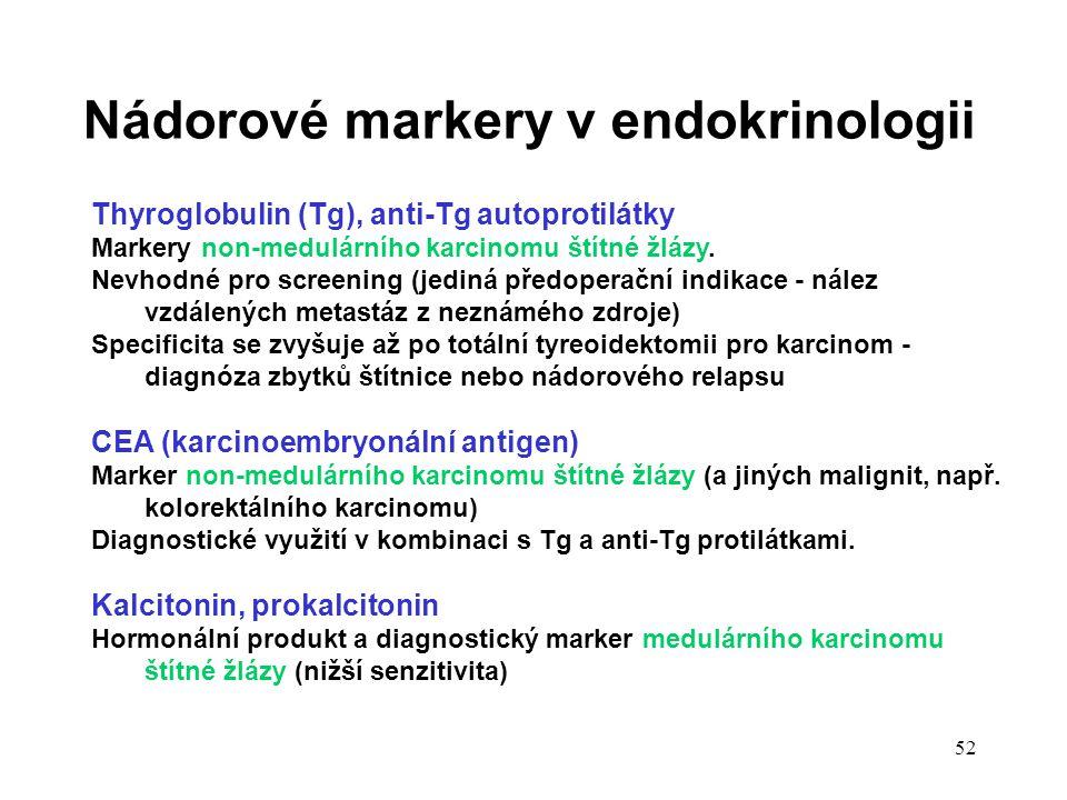 Nádorové markery v endokrinologii