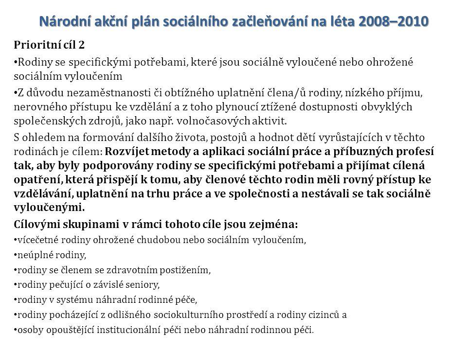 Národní akční plán sociálního začleňování na léta 2008–2010
