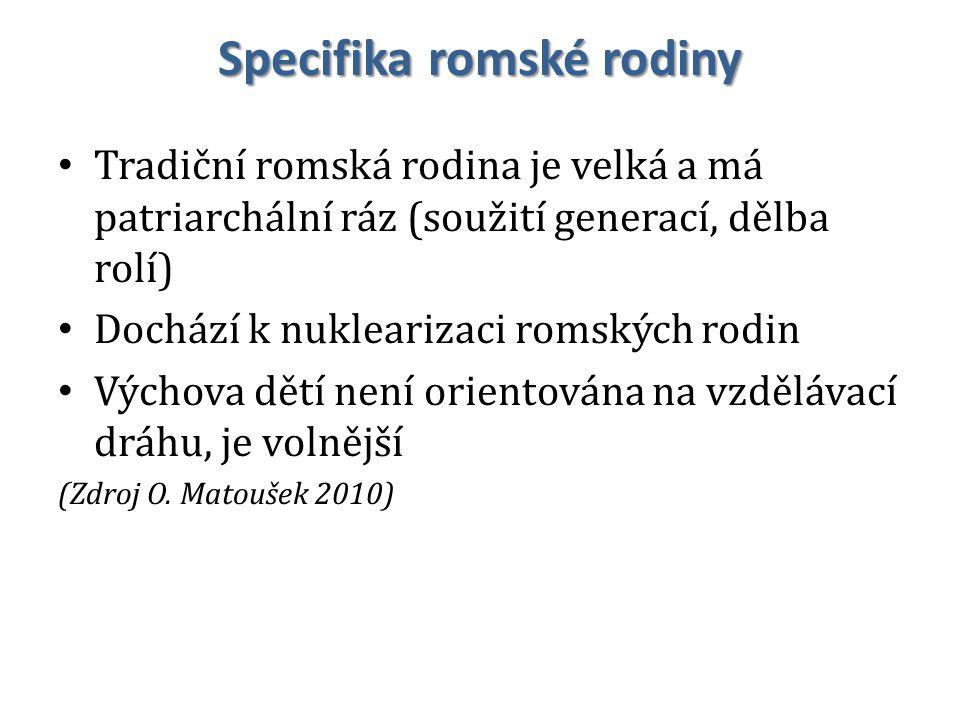 Specifika romské rodiny