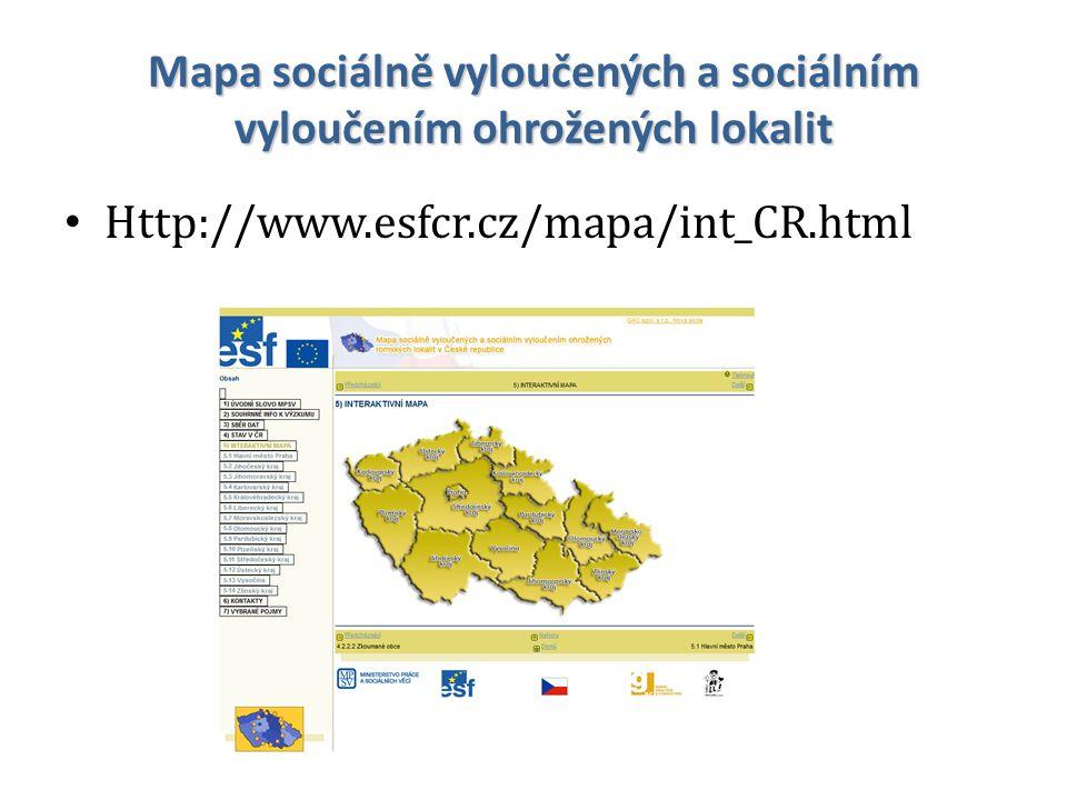 Mapa sociálně vyloučených a sociálním vyloučením ohrožených lokalit