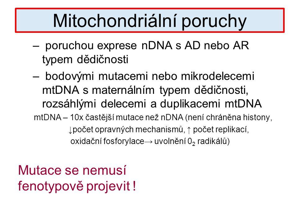 Mitochondriální poruchy