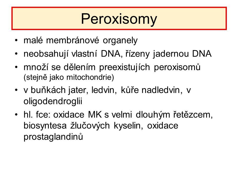 Peroxisomy malé membránové organely