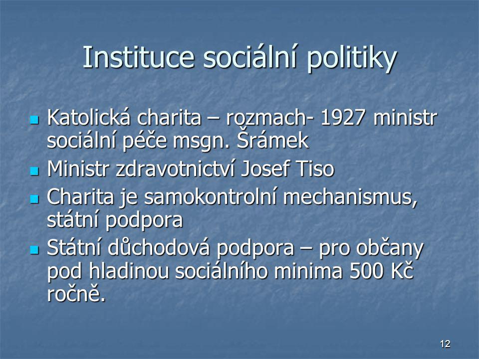 Instituce sociální politiky