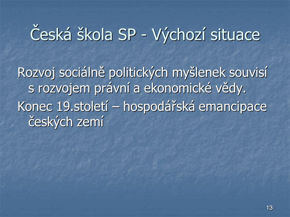 Česká škola SP - Výchozí situace