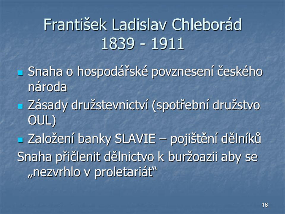 František Ladislav Chleborád 1839 - 1911