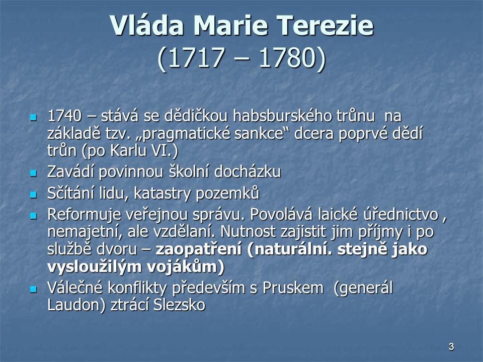 Vláda Marie Terezie (1717 – 1780)