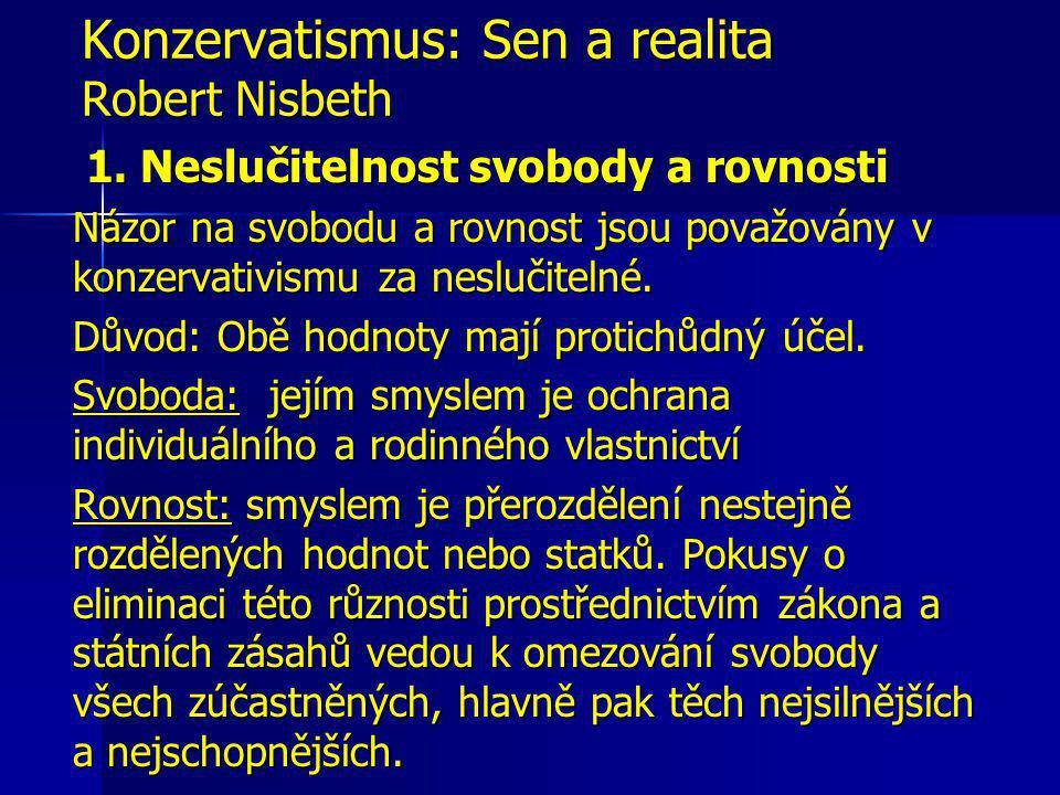 Konzervatismus: Sen a realita Robert Nisbeth