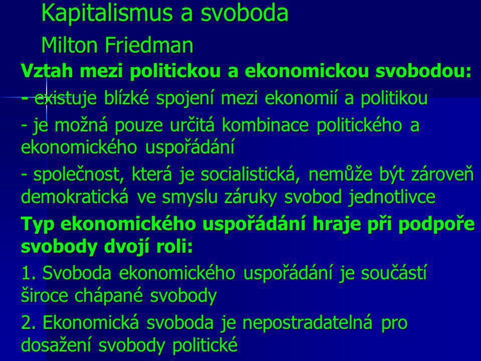 Kapitalismus a svoboda Milton Friedman