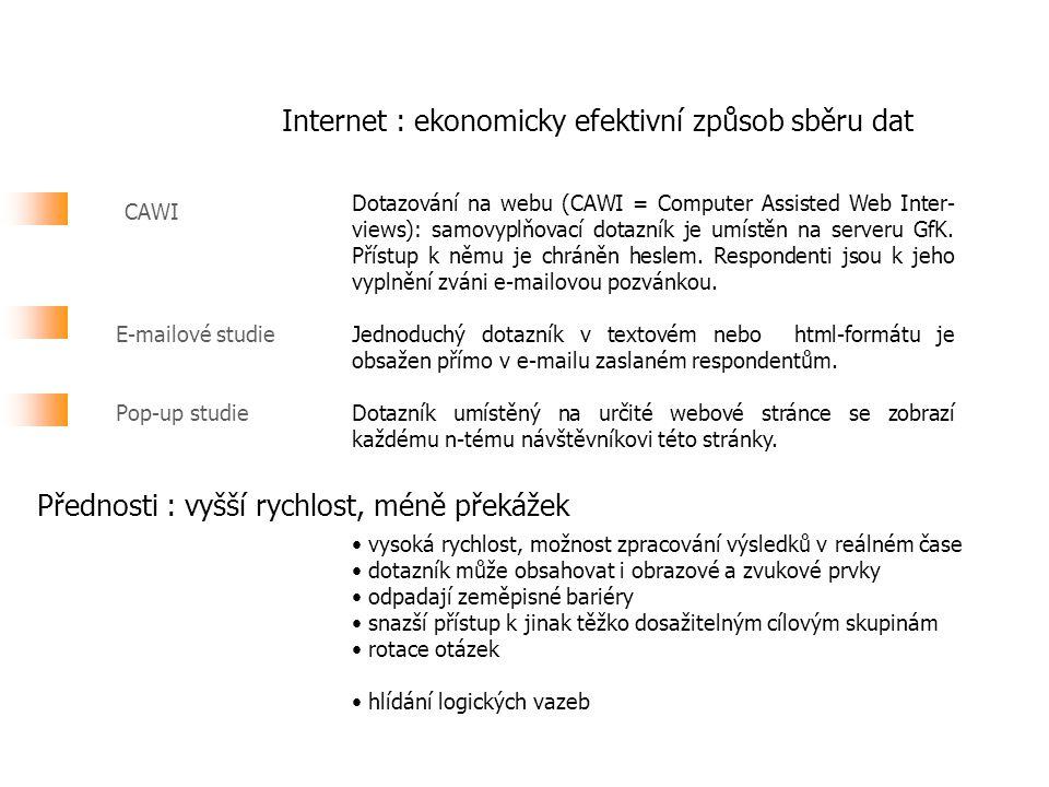 Internet : ekonomicky efektivní způsob sběru dat