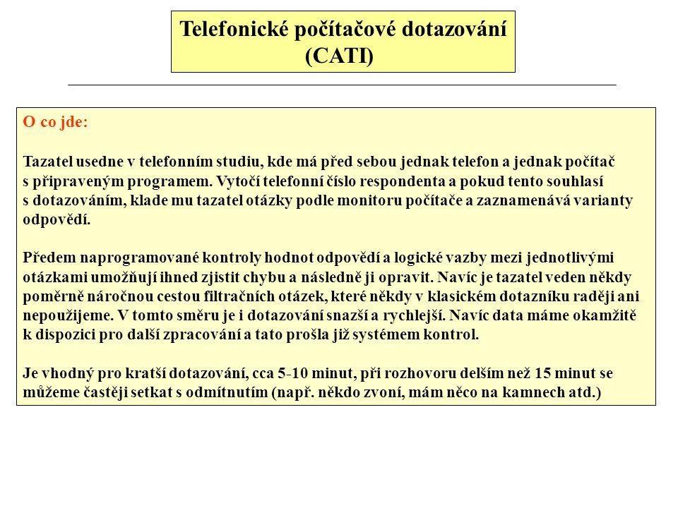 Telefonické počítačové dotazování