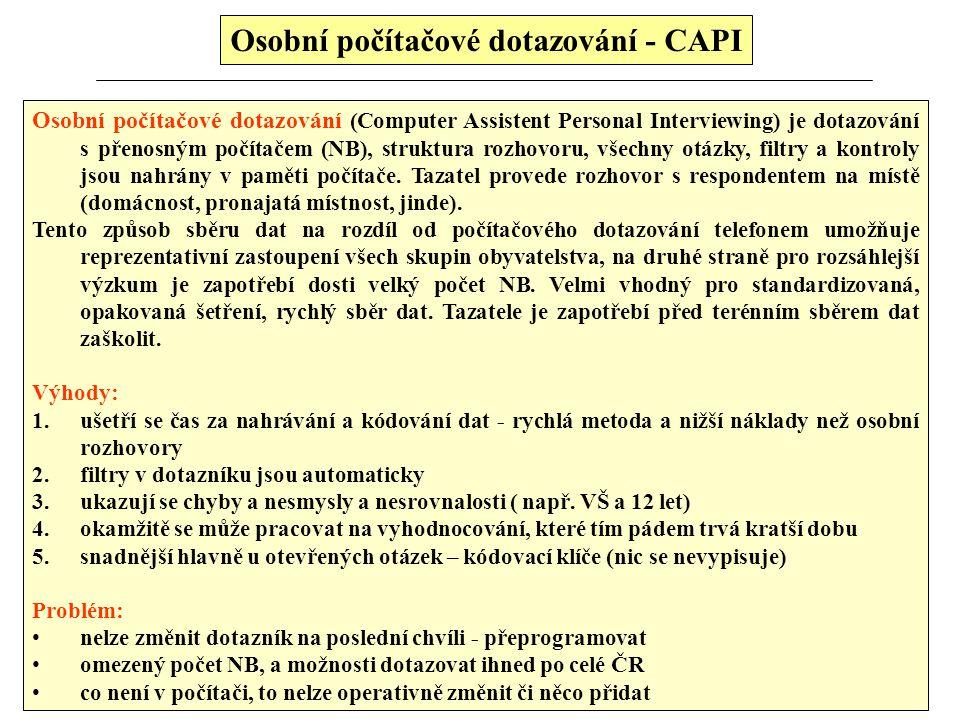 Osobní počítačové dotazování - CAPI