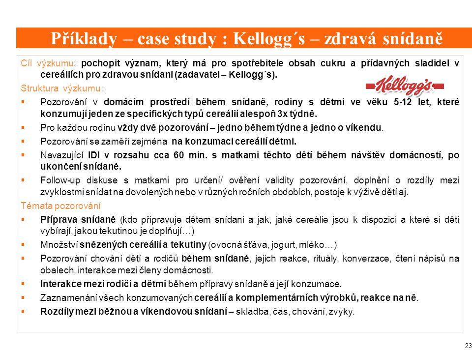 Příklady – case study : Kellogg´s – zdravá snídaně