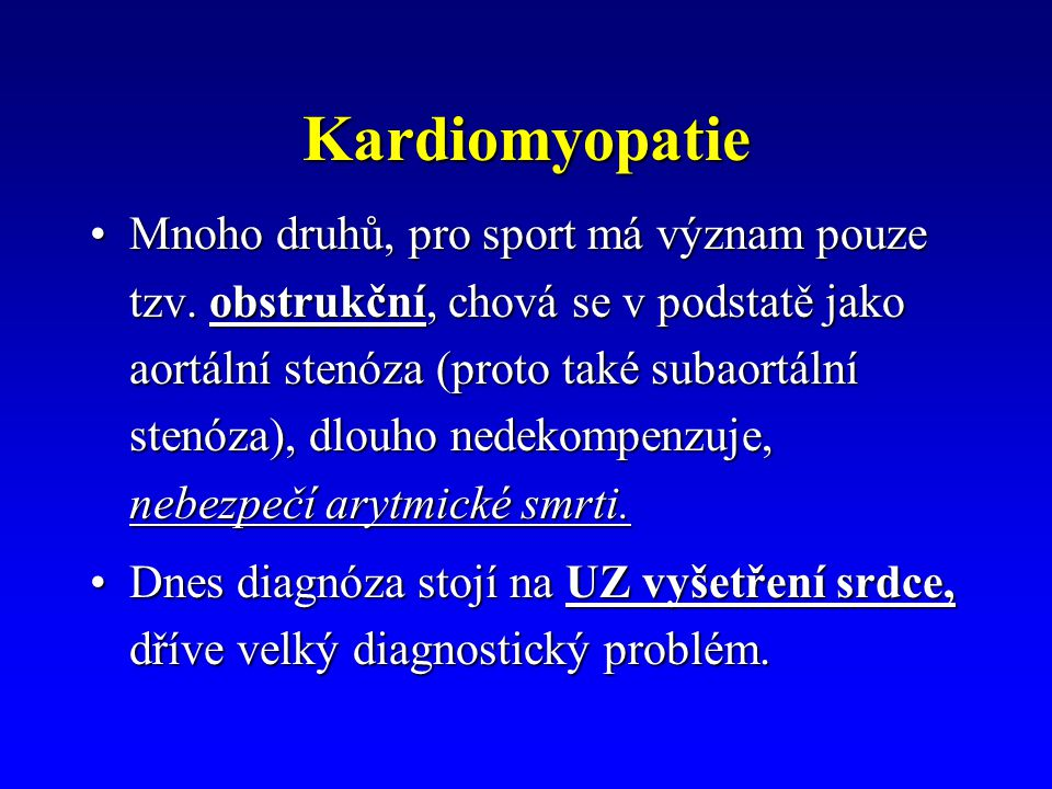 Kardiomyopatie