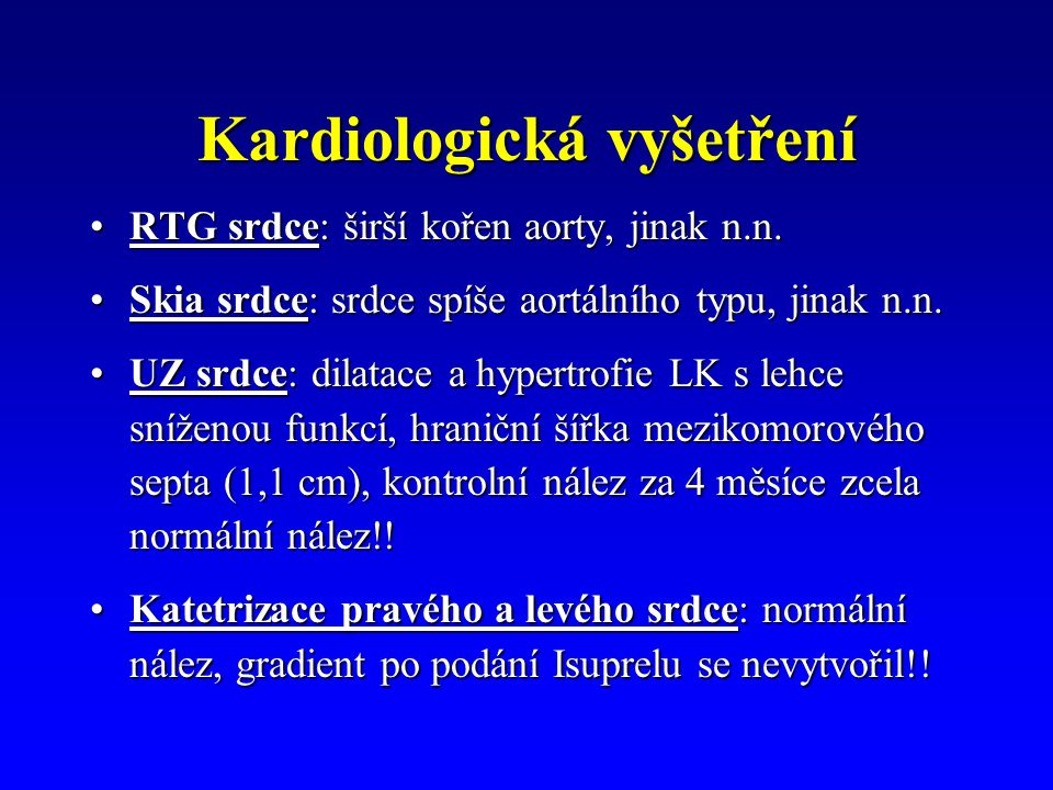 Kardiologická vyšetření