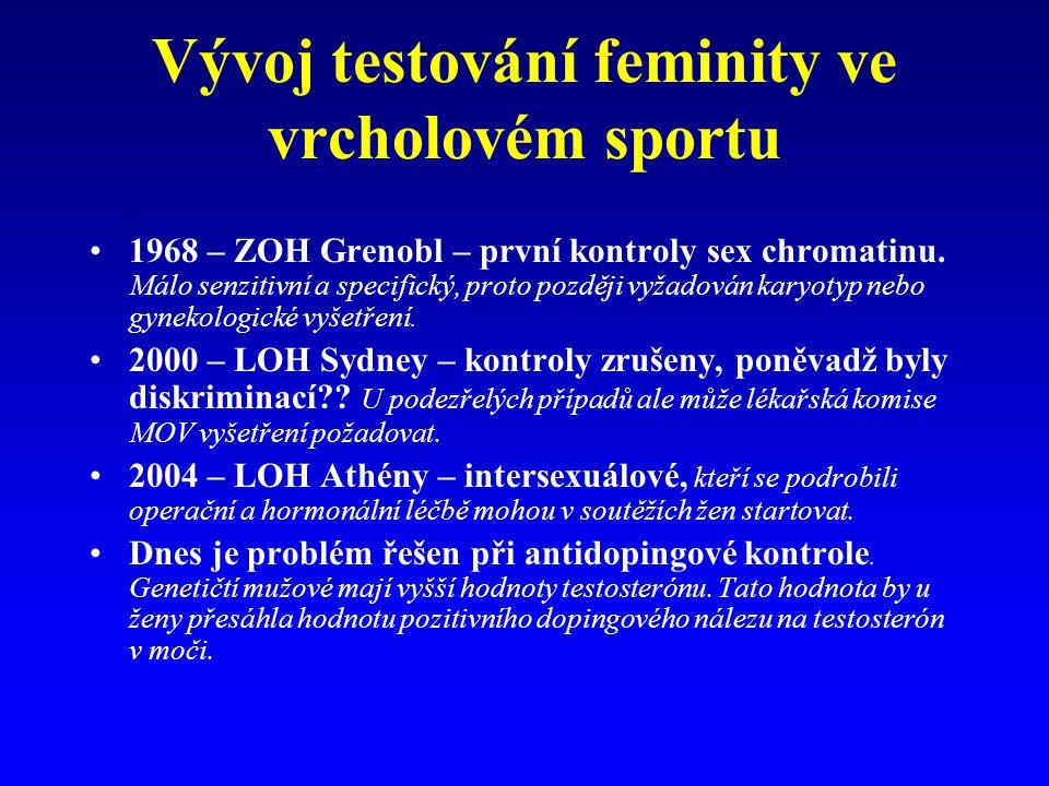 Vývoj testování feminity ve vrcholovém sportu