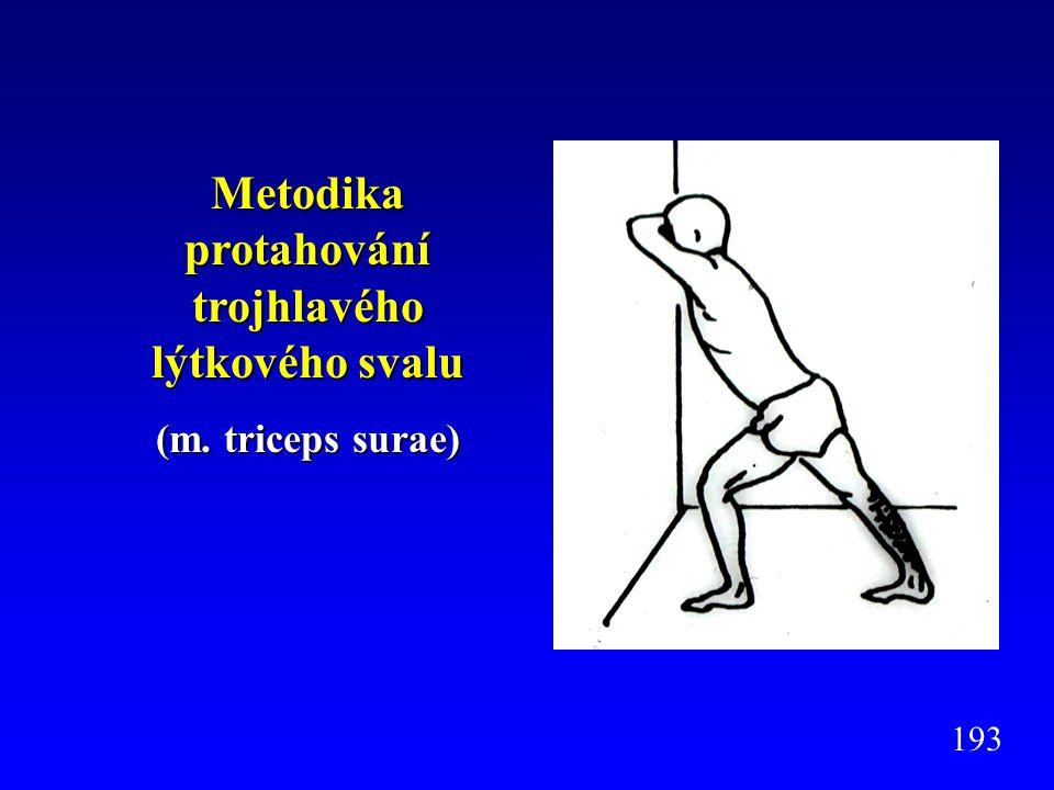 Metodika protahování trojhlavého lýtkového svalu