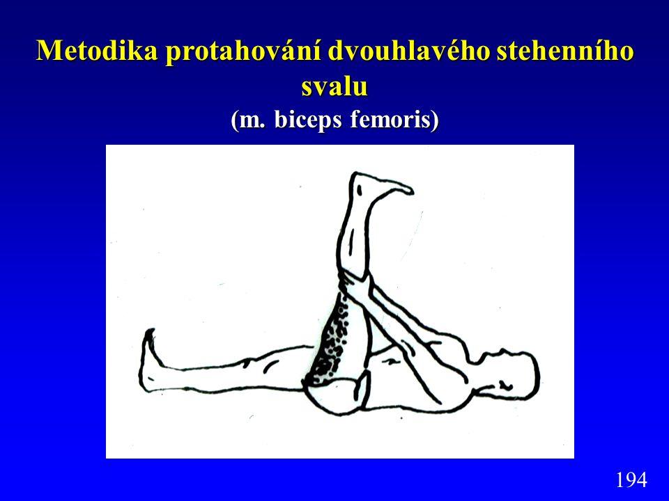Metodika protahování dvouhlavého stehenního svalu