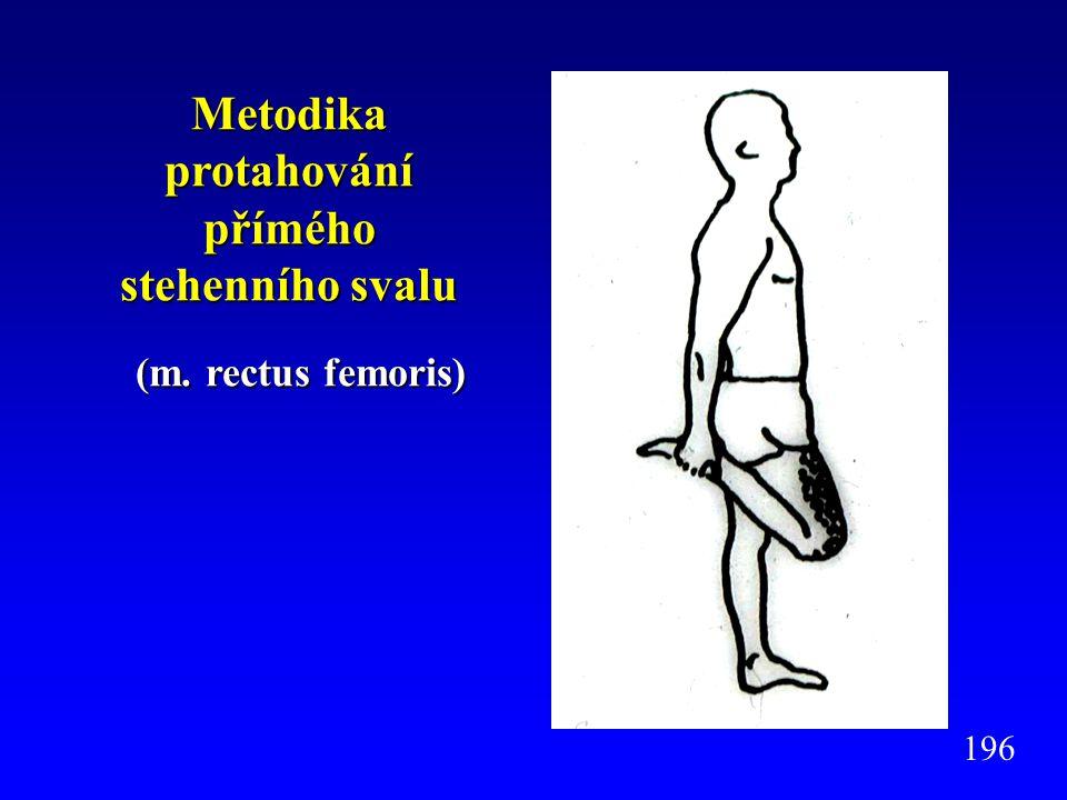 Metodika protahování přímého stehenního svalu