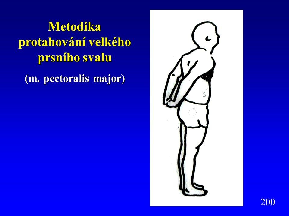 Metodika protahování velkého prsního svalu