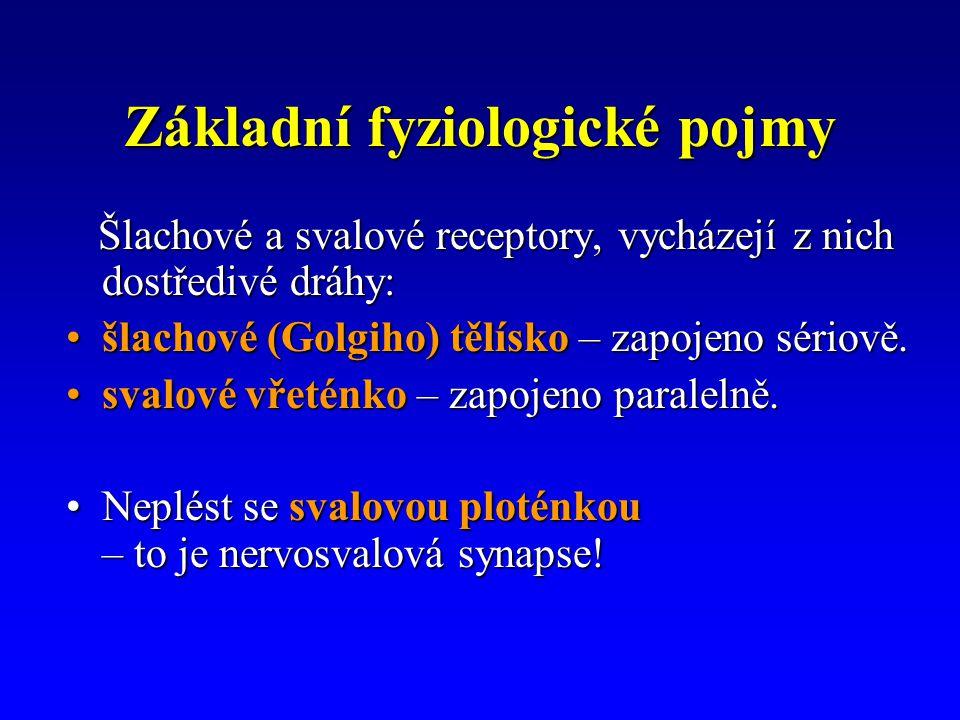 Základní fyziologické pojmy