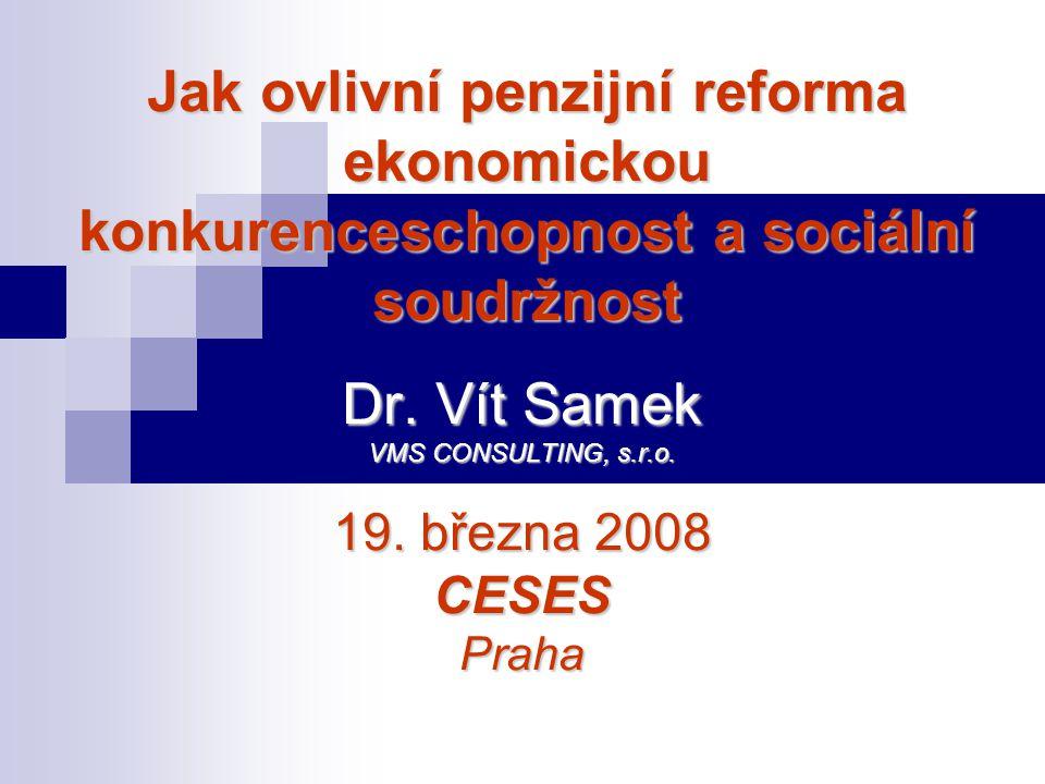 Dr. Vít Samek VMS CONSULTING, s.r.o. 19. března 2008 CESES Praha