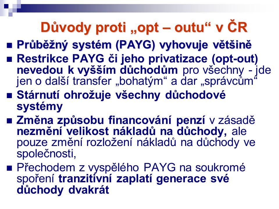 """Důvody proti """"opt – outu v ČR"""