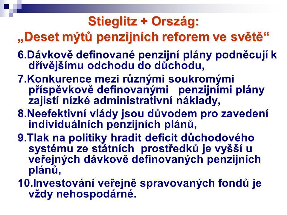 """Stieglitz + Ország: """"Deset mýtů penzijních reforem ve světě"""