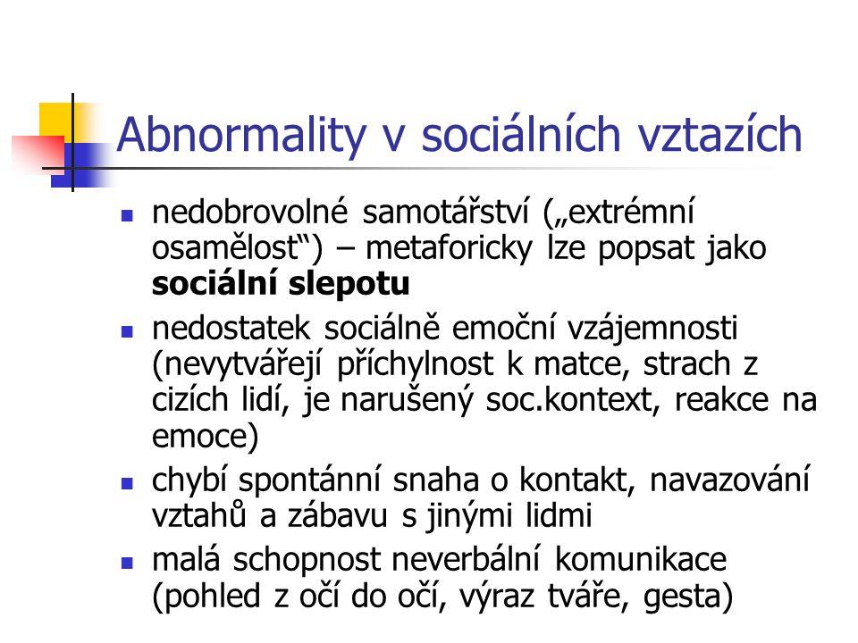 Abnormality v sociálních vztazích