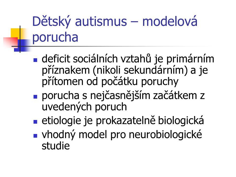 Dětský autismus – modelová porucha
