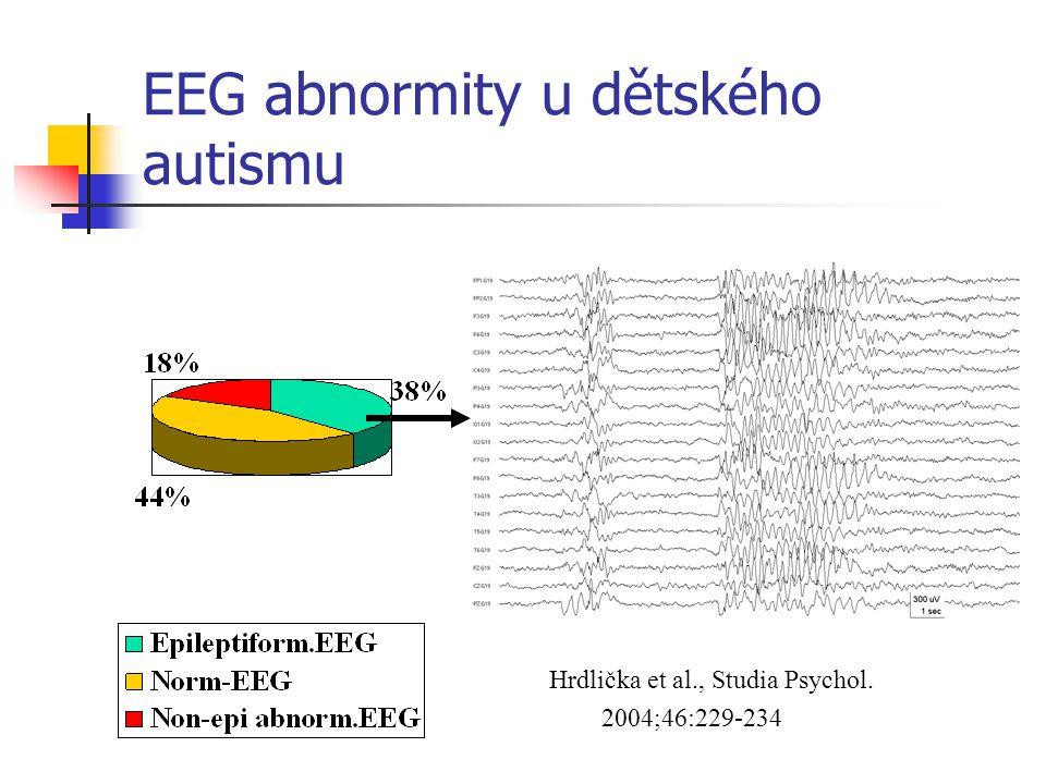 EEG abnormity u dětského autismu