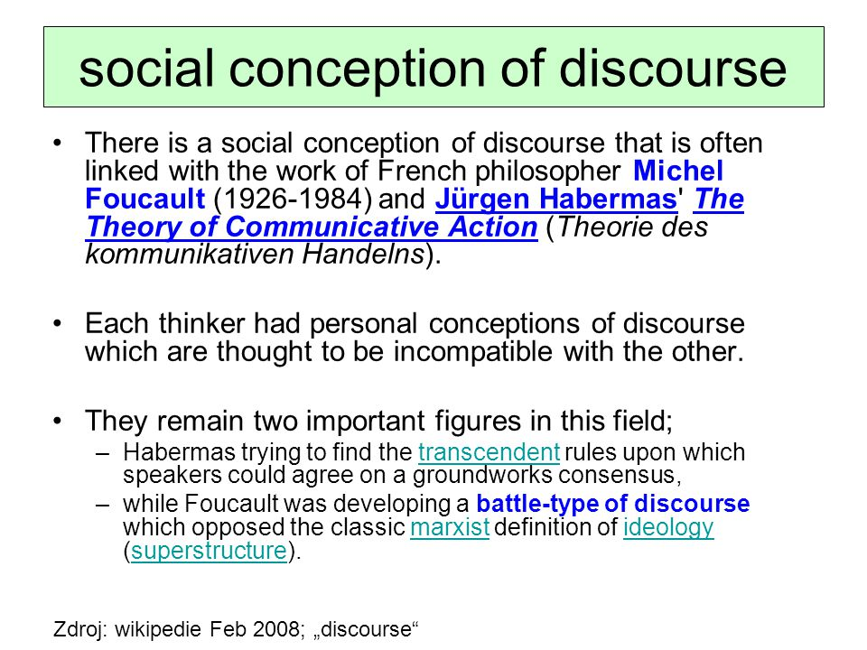 social conception of discourse