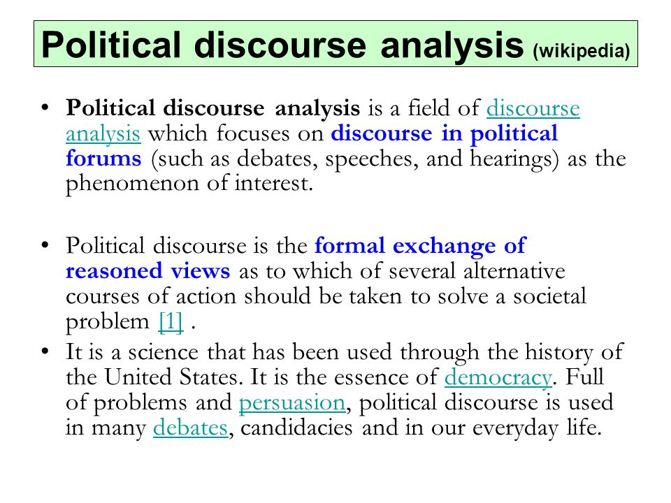 Political discourse analysis (wikipedia)