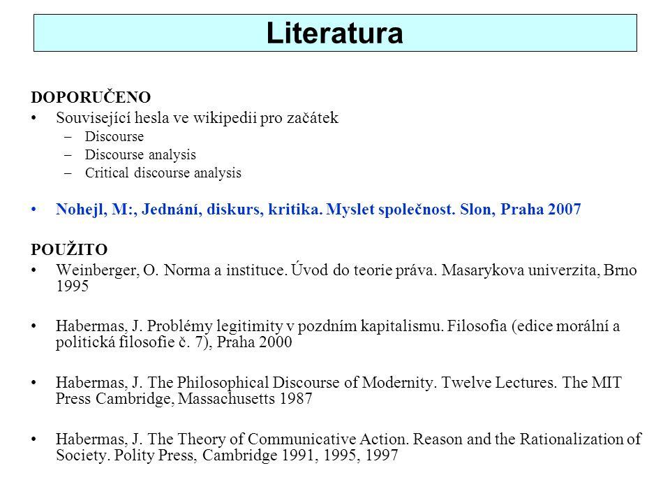 Literatura DOPORUČENO Související hesla ve wikipedii pro začátek