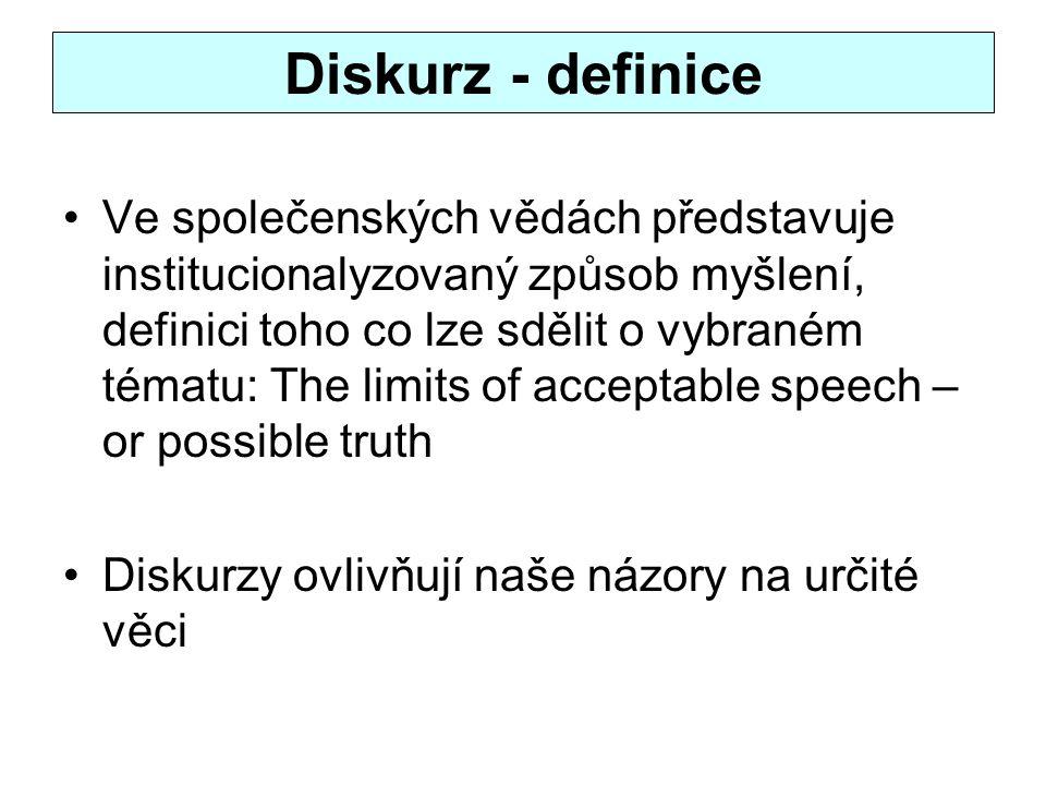 Diskurz - definice