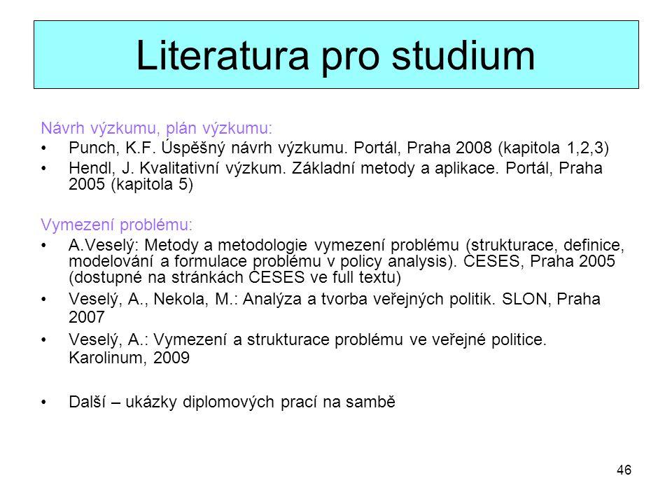 Literatura pro studium