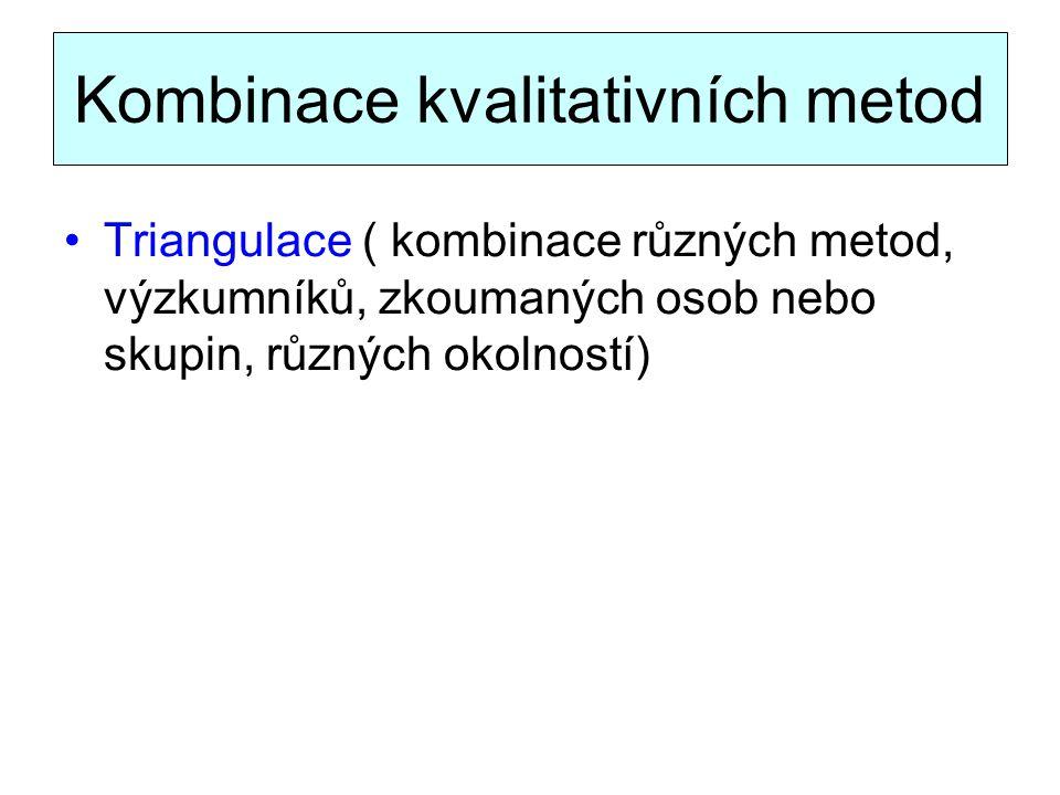 Kombinace kvalitativních metod