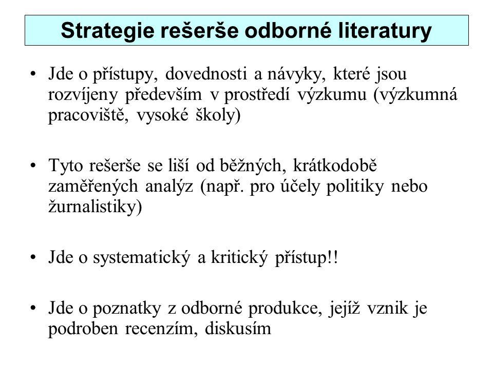 Strategie rešerše odborné literatury