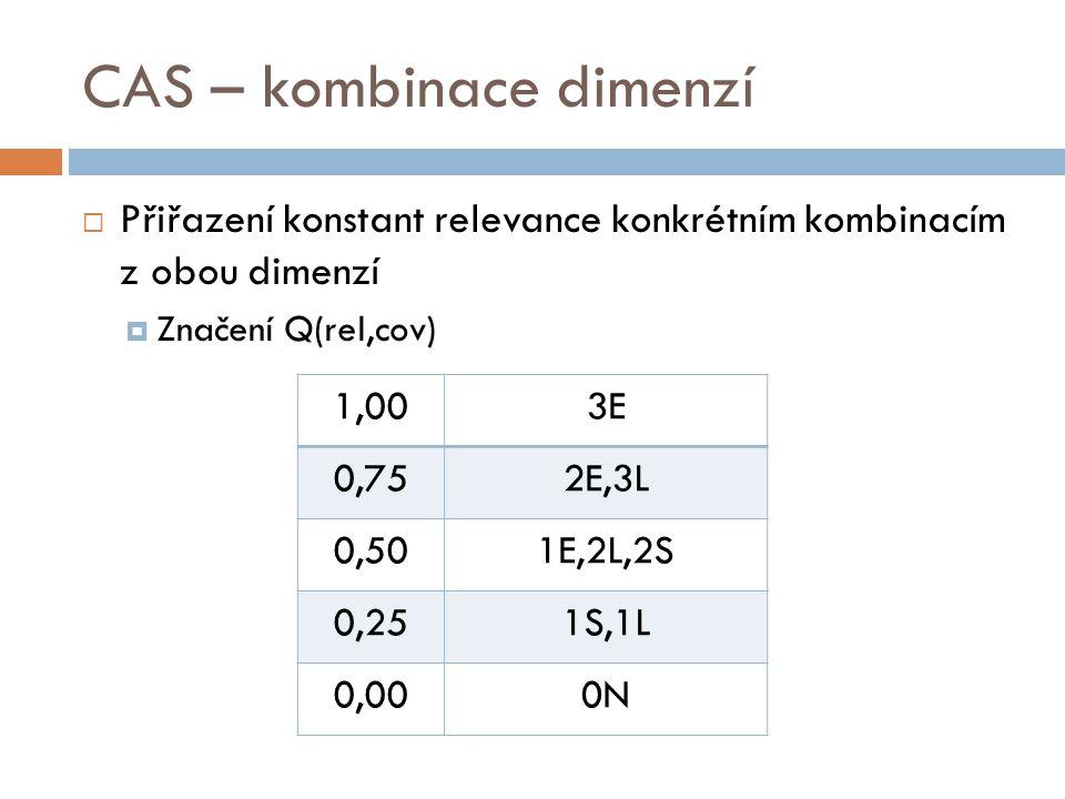 CAS – kombinace dimenzí