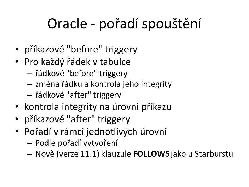 Oracle - pořadí spouštění