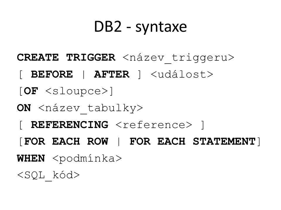 DB2 - syntaxe