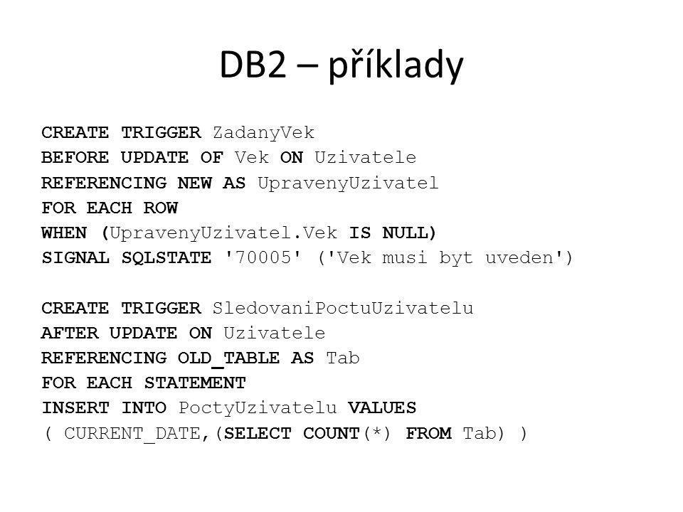DB2 – příklady