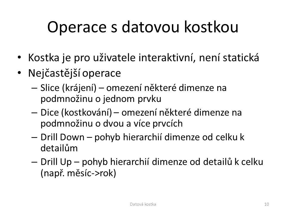 Operace s datovou kostkou